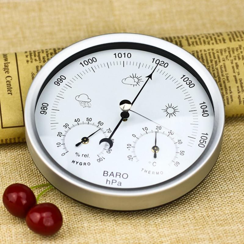 Image 5 - Настенные Бытовые барометры термометр гигрометр Высокая точность  манометр воздуха Метеостанция подвесной инструментПриборы для измерения  температуры   -