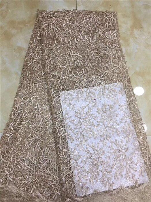 Partito popolare del ricamo del panno di maglia tessuto a rete Francese per il vestito da modo PDN254 (5 yards/lotto) multi colore-in Pizzo da Casa e giardino su  Gruppo 2