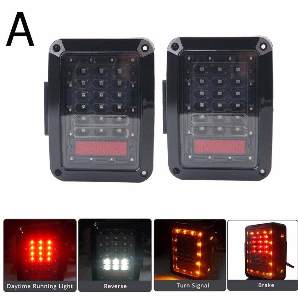 Тормоза СИД Обратный стоп парковка резервного копирования хвост свет комплект сигнал поворота задняя фара для Jeep Вранглер JK 2007-2015