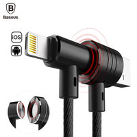 Baseus Portable 2 In 1 Magnetic Micro USB Cable For IPhone 7 6 6s 5 5s