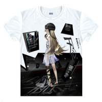 Camisa Bonito Das Mulheres T-Shirts T-Shirt História Shinobu Oshino Monogatari Anime roupas bonito kawaii sexy cool praia camisetas Japão Um