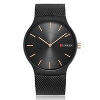 CURREN Men Watch Black Rose Gold Men's Watch 2018 Analog Quartz Wristwatch Mens Watches Top Brand Luxury Business Watch Men