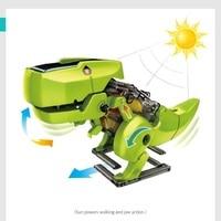 Solar toys 3 In 1 educational solar kit ransformation Jurassic World Dinosaur Insect Driller Robot DIY toys for children