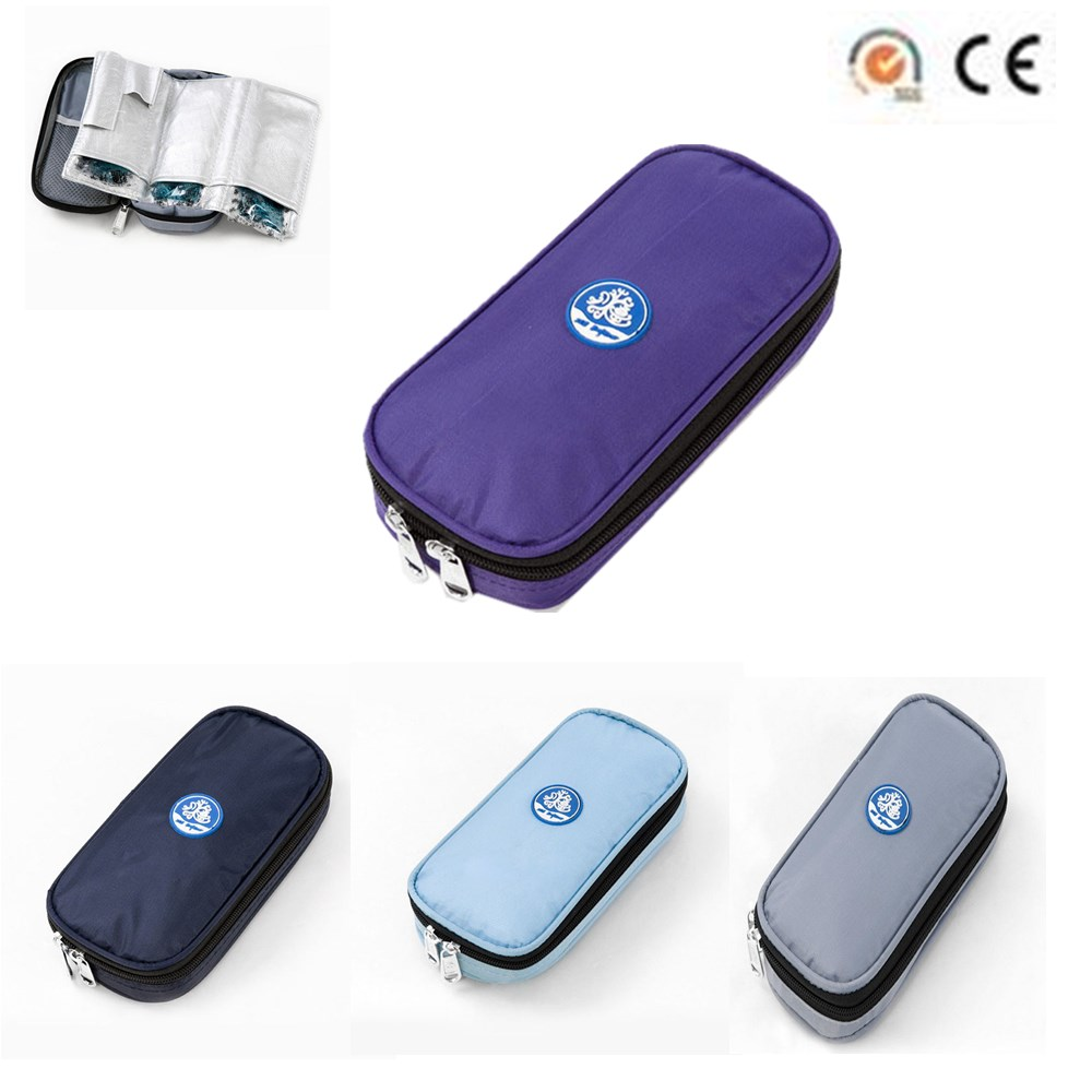 Insulino Cooler Bags Insulino Portebla Refrigerated Bags Drugs Insulated Ice Insulino Medication Cooling Pouch Diabetics Cooler