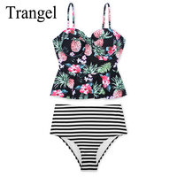 Trangel Sexy Floral Print High Waist Swimwear 2017 Bikini Push Up Swimsuit Women Bikini Set Bathing