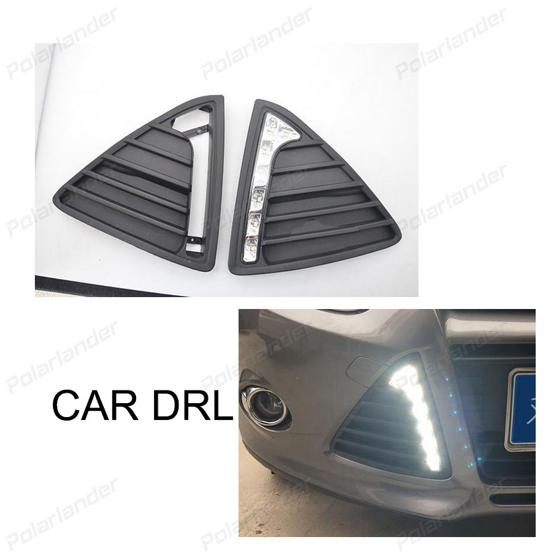 2 pcs auto accessory DRL Car styling For F/ord F/ocus 2012-2014 daytime running lights 2 pcs auto accessory drl for f ord k uga or e scape 2013 2015 car styling daytime running lights