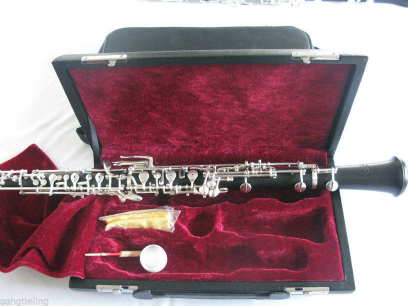Fine Professsional Musicians Concert Oboe,bb Keys,ebony Body,nickel Plated Colours Are Striking