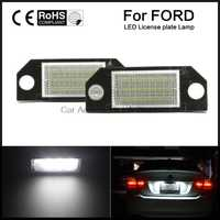 2pcs Car LED License Number Plate Light Lamp White Light for Ford Focus 2 C-Max