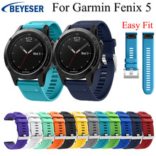 For Garmin Fenix 5 Watch Band Strap for Garmin Fenix 5/5 Plus/Forerunner 935 Band Sport Silicone Quick Release Watch wrist band garmin fenix 5 sapphire black black band