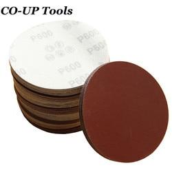 1 Uds 5 125mm pelar y pegar papel de lija disco de lijado para lijadora con arena 60 80 120, 180, 240, 320, 400, 600, 800, 1000, 1200