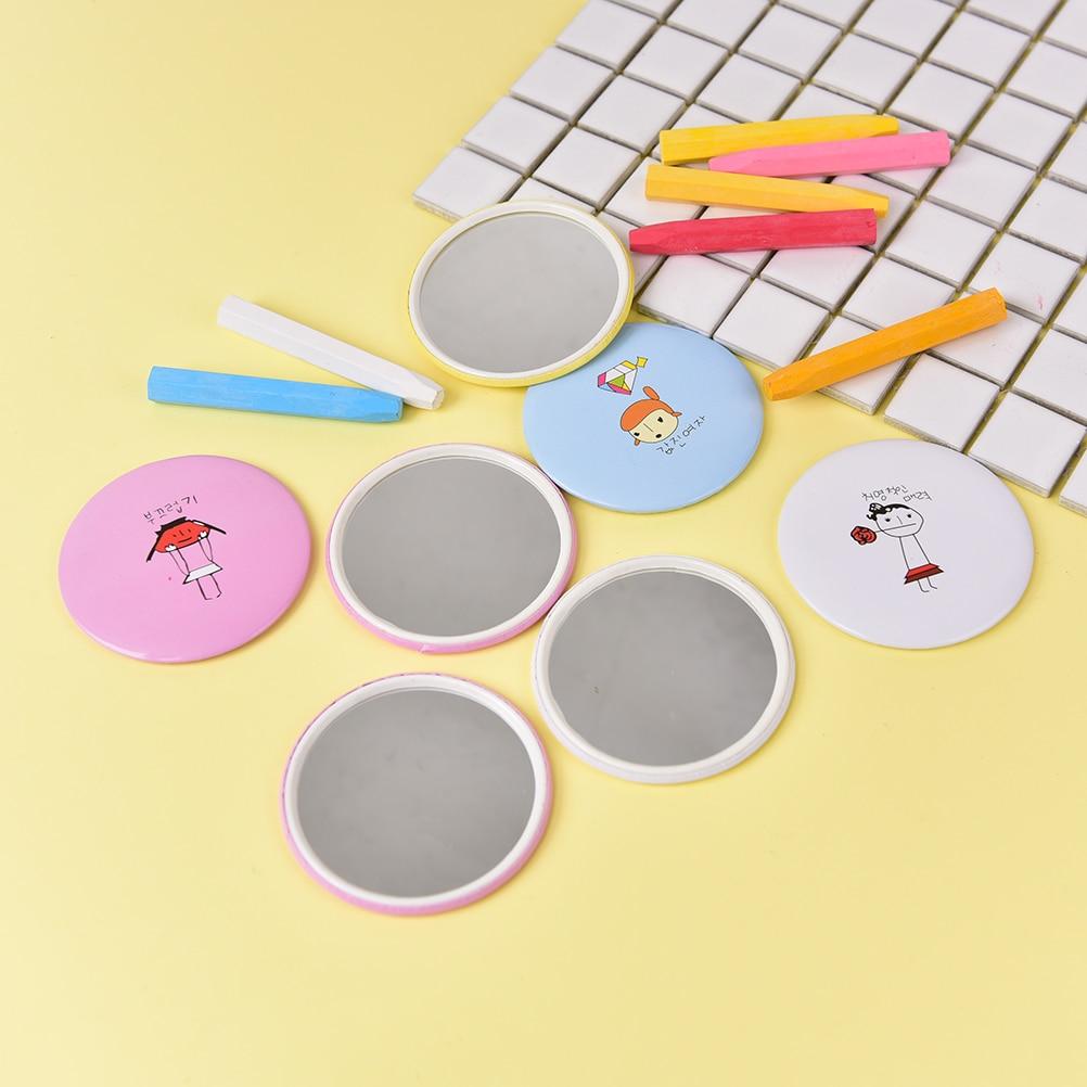 Spiegel Aggressiv Runde Spiegel Frauen Make-up Spiegel Farbe Muster Zufällig Dia 6,7 Cm Nette Tasche Spiegel Für Mädchen Cartoon Drucken