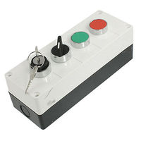 AC 400V 10A Green Red Momentary Push Button Switch Control Station Box