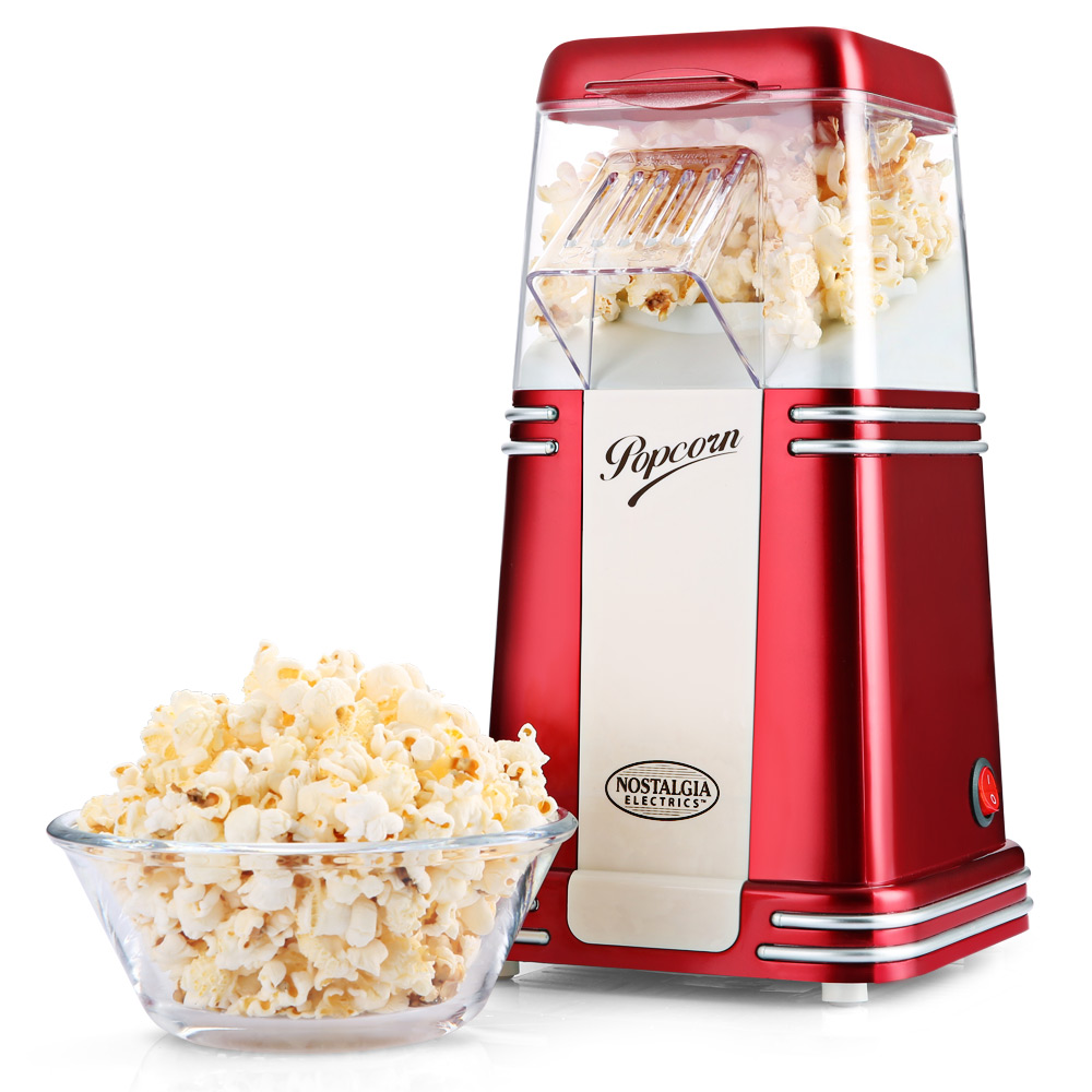 NOSTALGIA ELECTRICS Hot Air Popcorn di Mais Popper Macchina con Custodia TrasparenteNOSTALGIA ELECTRICS Hot Air Popcorn di Mais Popper Macchina con Custodia Trasparente