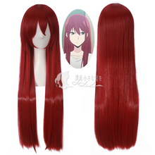 Anime Steins Gate Cosplay Wig Makise Kurisu Christina Assistant Long Straight Red