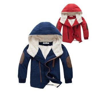Chłopiec kurtki zimowe 2019 z długim rękawem kurtka dla chłopców odzież dla dzieci kurtki dla dzieci z kapturem ciepłe kurtki płaszcz dla chłopca ubrania 3- 12 lat