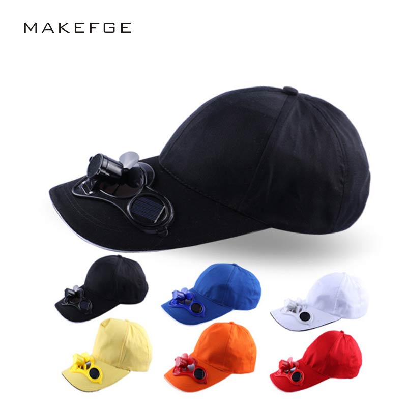 цены  6 panel Solar Power solar panel Fan snapback baseball cap hip hop hat snapback men women snapback adjustable beach hat Sun visor
