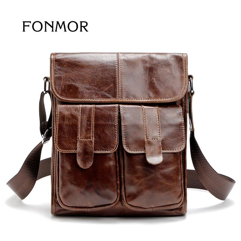 ФОТО  2017 Vintage Retro Cowhide Mens Bag Brand Designer Handbags Shoulder Men Cross body Bags Briefcase Genuine Leather