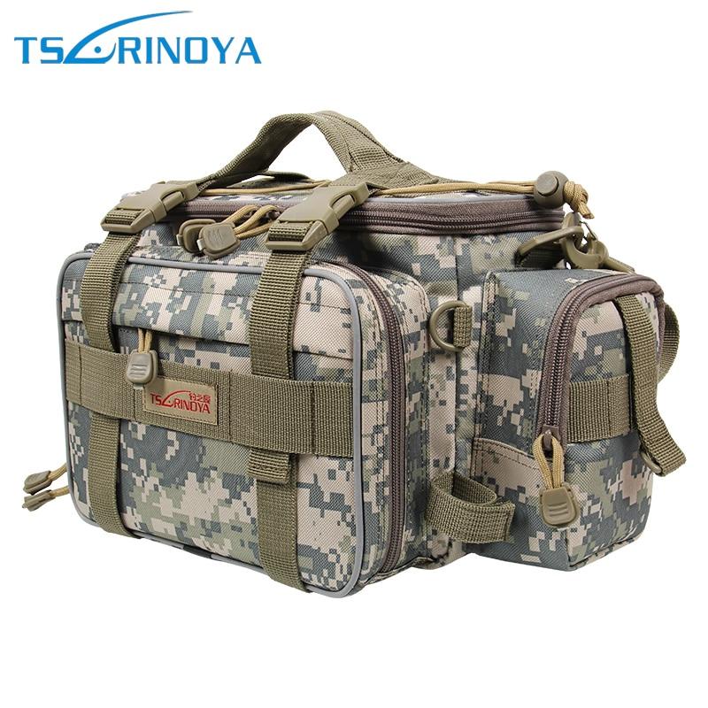 Trulinoya Outdoor Fishing Bag Lure Bag Backpack 40*15*19cm 600D Multifunctional Canvas Bags With YKK zip