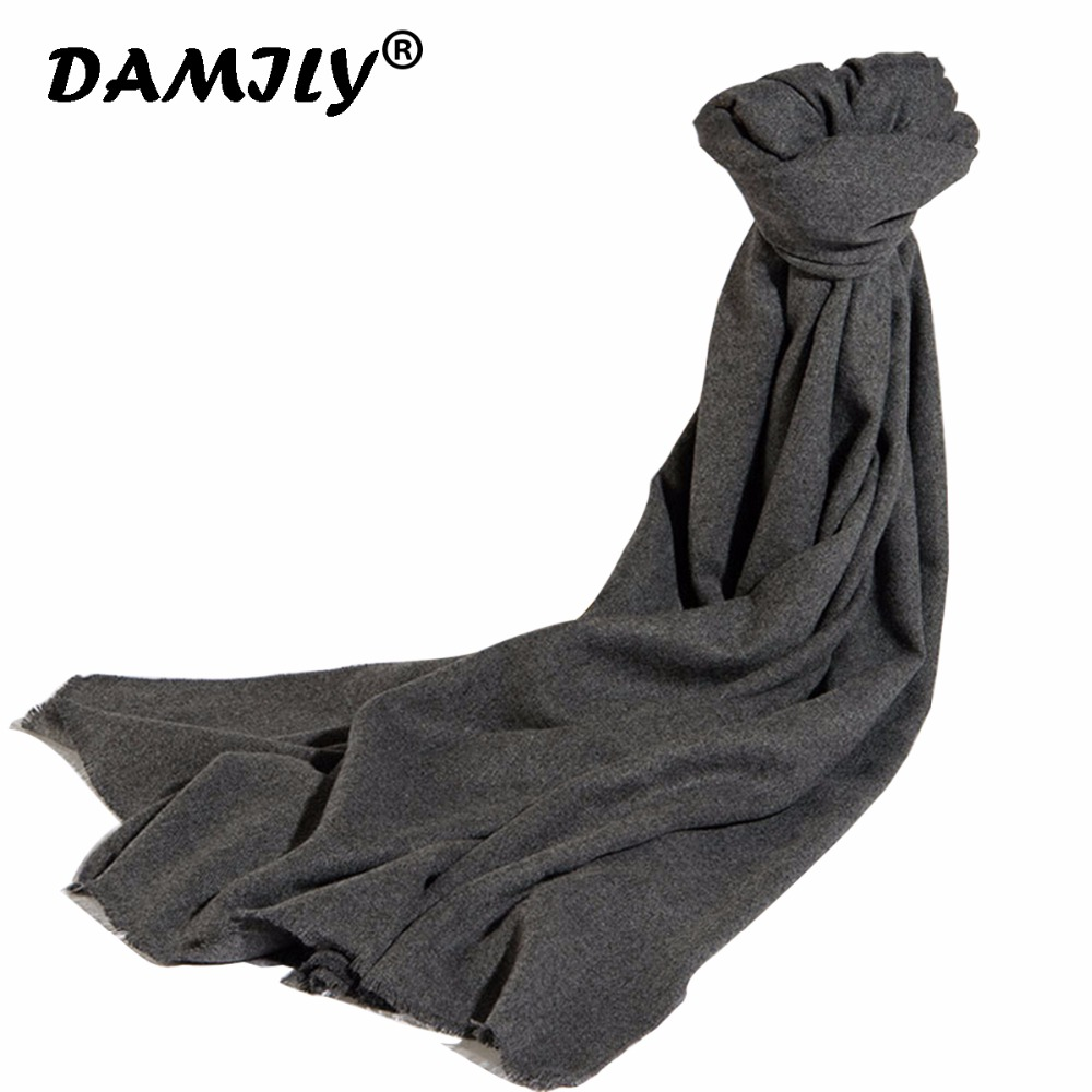 Fashion 2018 New Winter Solid Scarves For Women Shawls And Wraps Lady Pashmina Pure Long Cashmere Head Scarf Hijabs Stoles