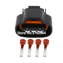 5PCS DJ7041A-2.2-21 DistributorCrank 4 Pin Female WireConnector TPS Boost SensorOval Ignition Coil Connector Sumitomo For Toyota