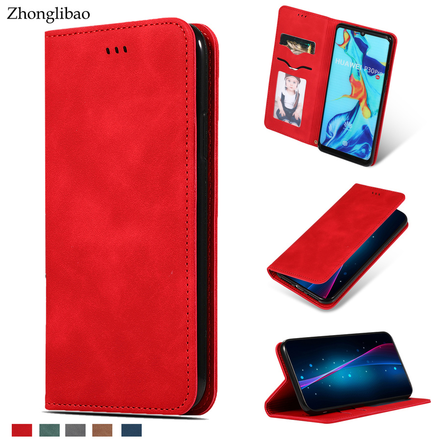 Luxury Flip Case for Huawei P30 Pro P20 <font><b>Mate</b></font> <font><b>20</b></font> 30 <font><b>Lite</b></font> P30lite coque etui Leather Magnetic Card Holder Wallet Stand Book Cover image