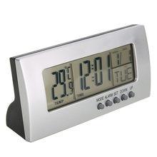 ef9f60626 الحديث المنبه الرقمية lcd عرض التقويم غفوة المنبه سطح المكتب ساعة الطاولة