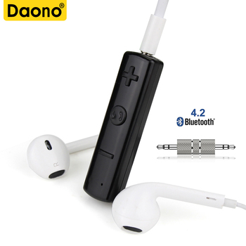 3.5mm Wireless Bluetooth Earphone Headphone Receiver AUX 3.5mm Wireless Receiver Audio Car Bluetooth Music Receive With Mic
