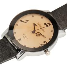 Повседневная мода женские часы топ уникальная МУЗЫКАЛЬНАЯ нота наберите дизайн кварцевые часы женщины 4 цветов PU ремешок женские часы relogio femilino