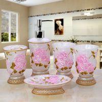 5 Sets European Bathroom Supplies Resin Bathroom Sets Of Five Wedding Wash Bathroom Suite Toiletries
