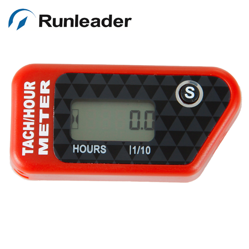 Wholesale Waterproof digital Tachometer Hour Meter for gas engine Motocross Motorcycle ATV Snowmobile Boat jet ski marine