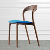 Factory direct ash wood dining chair Cafe restaurant dining room full solid wood chair Home Nordic upholstered chair