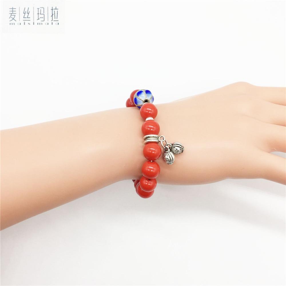 Length Custom Skretch Red Stone Bracelets Women 2018 Trendy Jewelry Gifts Brand Handmade Jewellery