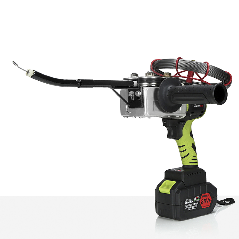 Nuovo arrivo elettricista 1000 mah al litio tesatura macchina cavo della parete automatico di piombo filo elettrico di ricarica threading macchina