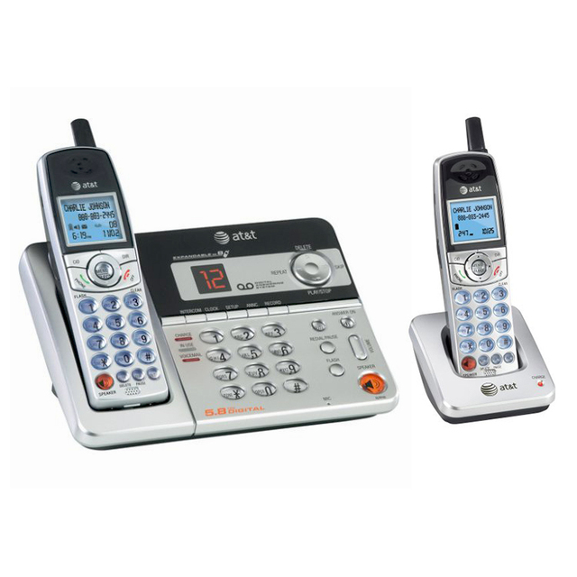 at t e5921 5 8ghz digital cordless phone with caller id and rh aliexpress com VTech Cordless Phones Panasonic Cordless Phones Manuals