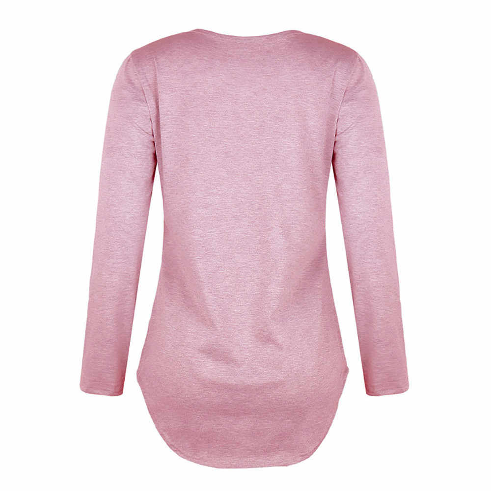 Dropship primavera Bouse mujer cuello en V camisa de manga larga correa sólida Top otoño Lino suelto Casual Sport Girls blusa completa 0309