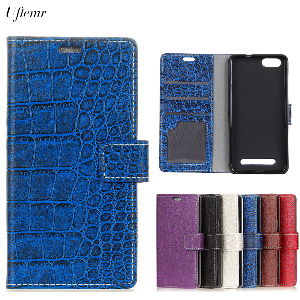 Uftemr Vintage Crocodile PU Leather Cover For Doogee X30 Protective Silicone Case Wallet Card Slot Phone Acessories