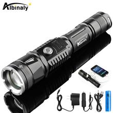 Rechargeable LED flashlight CREE XML-T6 5000 lumens torch USB interface to charge the phone Zooable 5 lighting modes with 18650