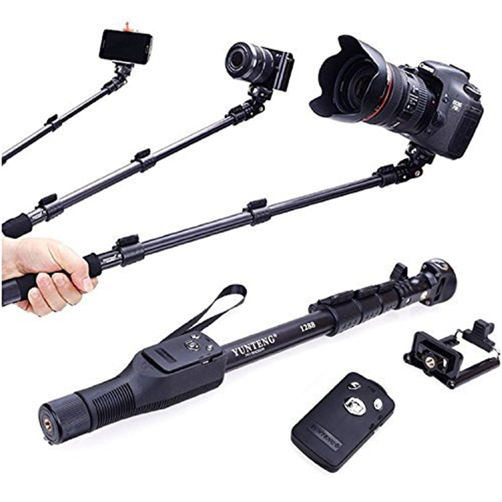 for gopro dslr camera ios android phone selfie stick yunteng 1288 bluetooth extendable handheld. Black Bedroom Furniture Sets. Home Design Ideas