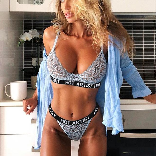 Fashion thin deep V-neck push up underwear