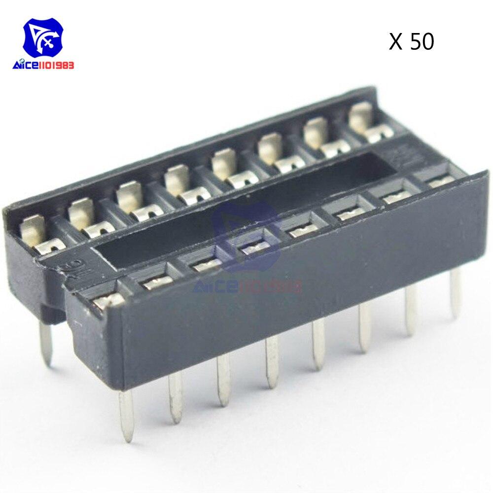 50 шт. 16 контактов 16 контактов 16 контактов 16 P DIP IC розетки адаптер паяльный тип розетка 100% оригинал DIY
