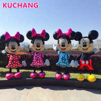 1PC 175cm 3D Giant Mickey Minnie Mouse Foil Balloon Pink Blue Bowknot Standing Kids Baby Shower Birthday Party Decorations Globo