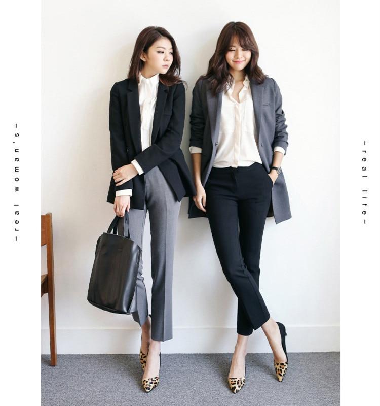 2018 Summer High Quality Women Formal Office Work Pants Black Grey Business Suit Trousers Ladies OL Pencil Pants