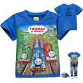 4-8y Baby Clothes Boys T-shirts 2016 Summer Fashion Cartoon Thomas Short Sleeve T Shirt Children Clothing For Boy T Shirt