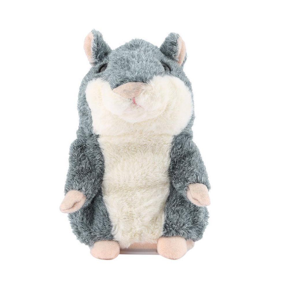 Cute Talking Hamster Plush Toy Sound Record Hamster Toy Animal Toy Gray Speak Talking Sound Educational NEW GIFT