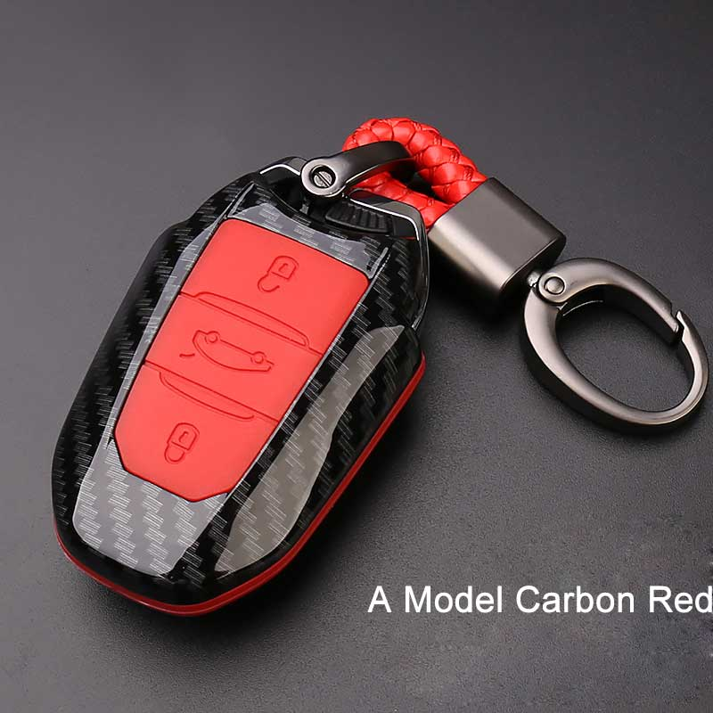 cheapest Carbon fiber car remote key cover case holder protect for Peugeot 301 308 308S 408 2008 3008 4008 5008 Car Accessories key case