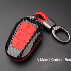 Image 3 - Carcasa de llave de mando a distancia de coche estuche protector de fibra de carbono protege para Peugeot 301 308 308S 408 2008 3008 4008 5008 accesorios, funda para llave
