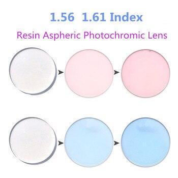 розовые и голубые шторы | 1,56 1,61 Розовый Фиолетовый Синий фотохромные переходные оптические линзы анти отражающие УФ царапины близорукость рецепт на очки для зрения