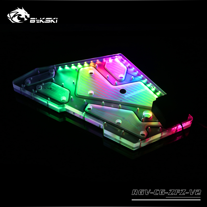BYKSKI Acrylic Board Water Channel Solution use for COUGAR Conqueror Computer Case for CPU and GPU Block RGB Combo DDC Pump in Fluid DIY Cooling from Computer Office