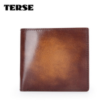 TERSE_New collection short wallet handmade leather purse with coin pocket genuine leather wallet custom service factory price