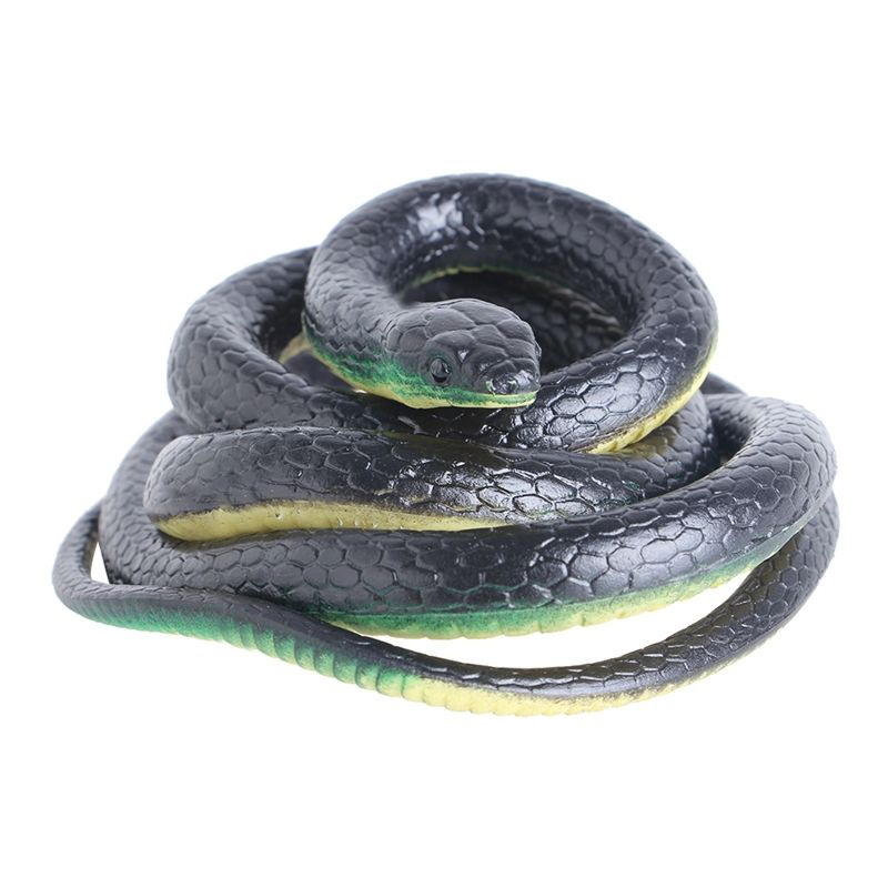 130cm Tricky Toy Realistic Fake Snakes Rubber Garden Props Joke Prank Horror Snake Spoof Toy Gift -17 AN88